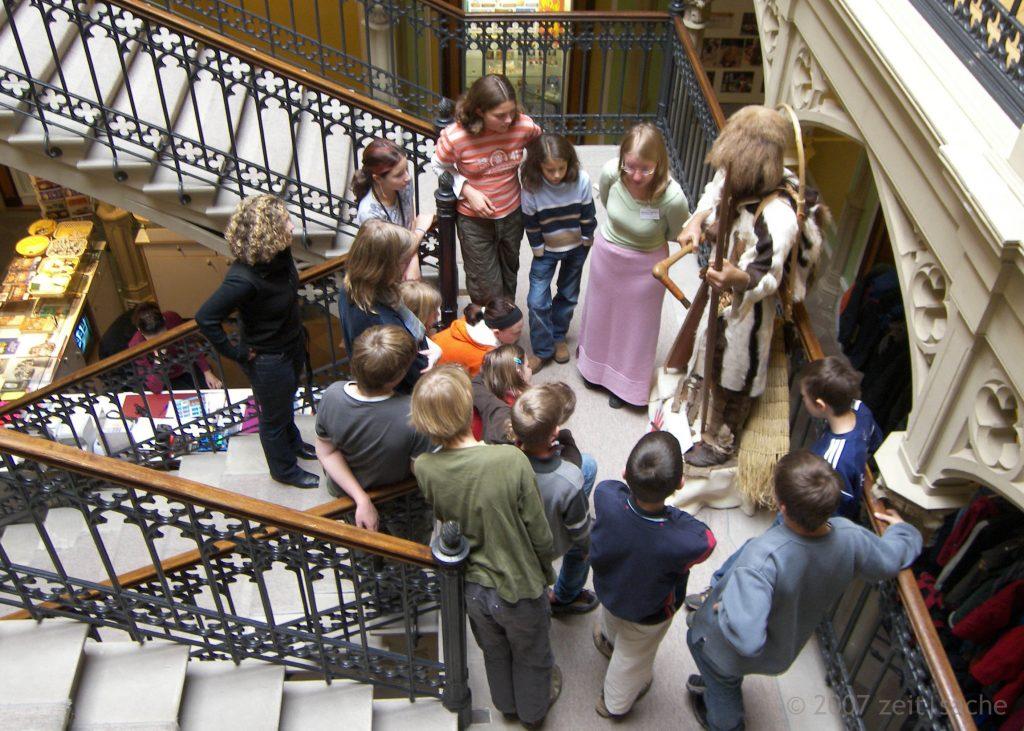 Colombischlössle Führung im Treppenhaus